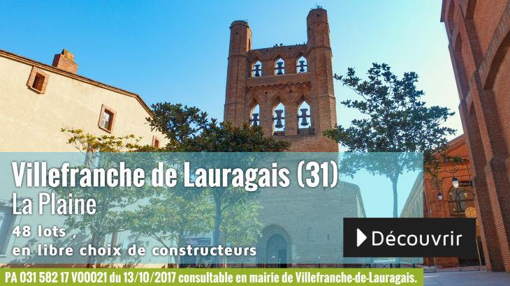 Terrain à vendre à Villefranche-de-Lauragais - La Plaine