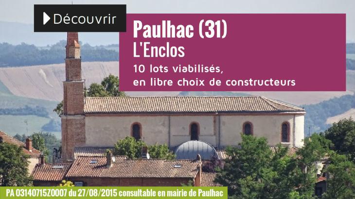 Terrain à vendre à Paulhac - L'Enclos