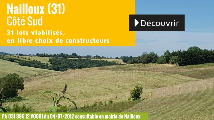 Terrain à vendre à Nailloux - Coté Sud